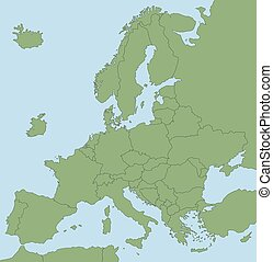 BREXIT Map Of Europe Without GB - BREXIT - Map of Europe...
