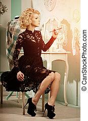 Beauty rich luxury woman like Marilyn Monroe Beautiful...