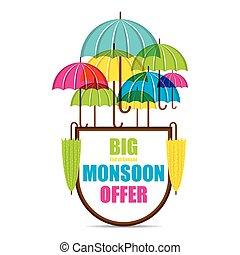 big monsoon offer banner design