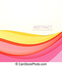 beautiful colorful wave background with soft colors
