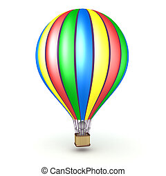 3D Character in Hot Air Balloon - 3D character riding in a...