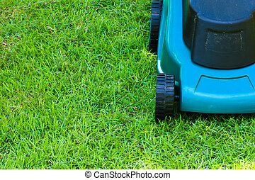 Lawn mover (frontside, cut) - Lawn mover finished operating...