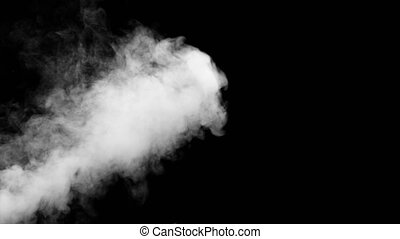 Fire Smoke from Bottom Up Black Background