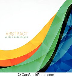 abstract colorful wave vector design background