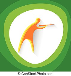 Shooting Athlete Sport Competition Icon
