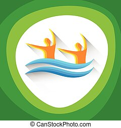 Synchronized Swimming Sport Competition Icon - Synchronized...