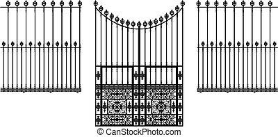 portão, cercas