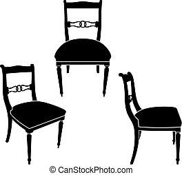 Chair - The same chair in three different sights