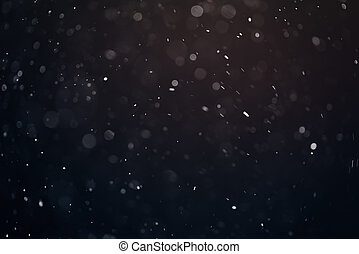 dust particles overblack background fx backdrop, real photo...