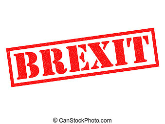 BREXIT red Rubber Stamp over a white background.