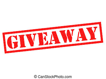 GIVEAWAY red Rubber Stamp over a white background.