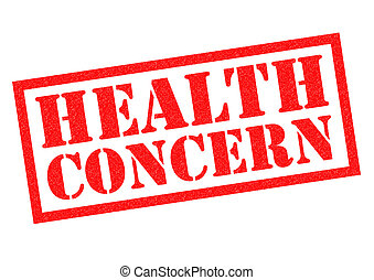 HEALTH CONCERN red Rubber Stamp over a white background
