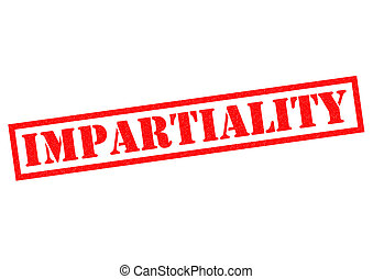 IMPARTIALITY red Rubber Stamp over a white background