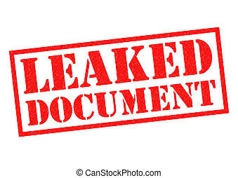 LEAKED DOCUMENT red Rubber Stamp over a white background