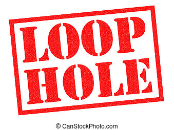 LOOP HOLE red Rubber Stamp over a white background