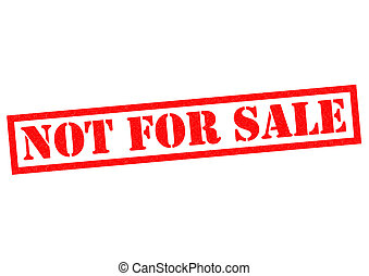 NOT FOR SALE red Rubber Stamp over a white background