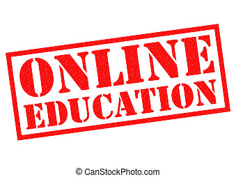 ONLINE EDUCATION red Rubber Stamp over a white background.