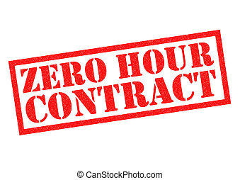 ZERO HOUR CONTRACT red Rubber Stamp over a white background.