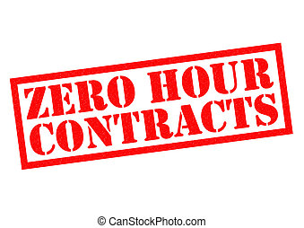 ZERO HOUR CONTRACTS red Rubber Stamp over a white background...