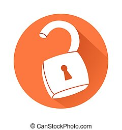 Unlocked padlock - This is an illustration of unlocked...