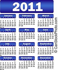 calendar for 2011 blue