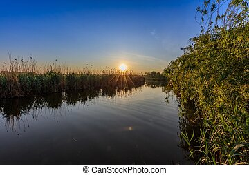 sunrise in Danube Delta - beautiful sunrise in the Danube...