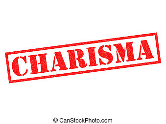 CHARISMA red Rubber Stamp over a white background