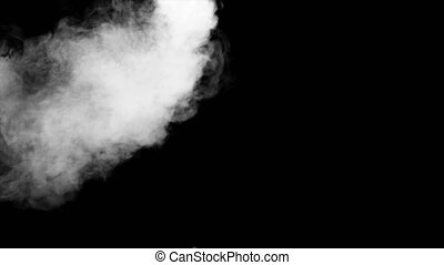 Fire Smoke from Up Black Background