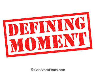 DEFINING MOMENT Rubber Stamp - DEFINING MOMENT red Rubber...