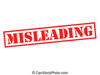 MISLEADING Rubber Stamp - MISLEADING red Rubber Stamp over a...