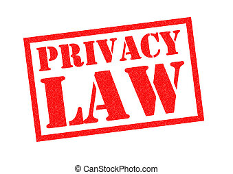 PRIVACY LAW Rubber Stamp