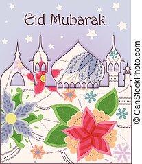 Eid mubarak background vintage