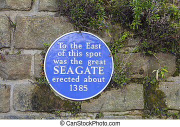 Seagate Blue Plaque in Hastings - A blue plaque marking the...