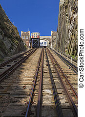 East Hill Lift in Hastings - A view of the East Hill Railway...