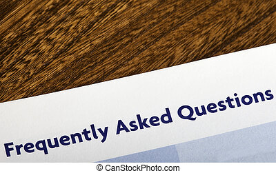 Frequently Asked Questions heading in an information booklet...