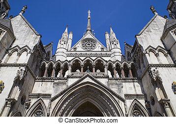 Royal Courts of Justice in London - A view of the...
