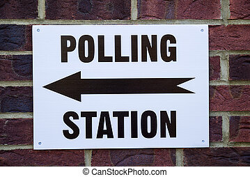 Polling Station - A sign outside a Polling Station on...