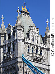 Tower Bridge in London - An abstract view of Tower Bridge in...