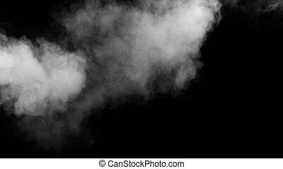 White Fog Random Fire Extinguisher from Left a Black...