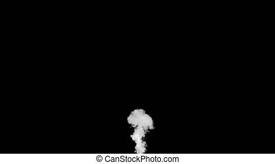White Smoke Put from Buttom a Black Background. Use the...