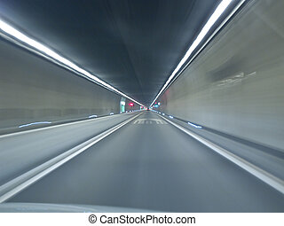 Going through Gotthard tunnel Switzerland-Italy A2 highway