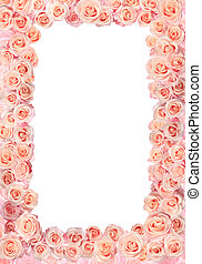 Frame of roses wedding / greetings on the occasion