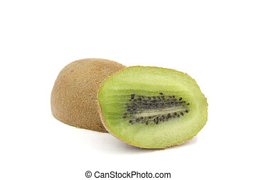 kiwi and cut kiwi isolated on a white background
