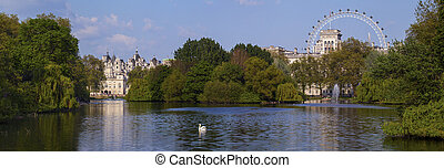 View of St. James's Park in London