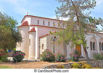 Orthodox temple, Hersonissos. - Orthodox temple in the town...