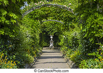 St Johns Lodge Gardens in Regents Park - A view inside the...