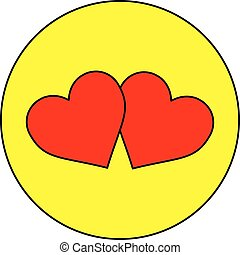 two hearts , two red hearts ,