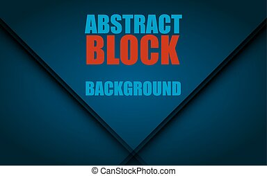 Abstract digital background. Blue block. Vector illustration...