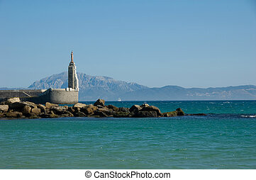 Strait of Gibraltar, Tarifa - Beautiful view strait of...