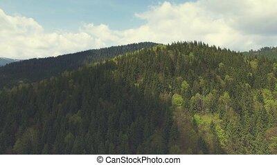 Aerial Flight in Carpathians mountains. 4k, 30fps